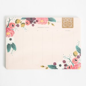 Rifle Paper Co. Floral Weekly Desk Pad   South Moon Under