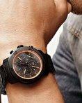 $375 MOVADO Bold Chronograph Black Dial Black Ion-plated Titanium Men's Watch 3600190