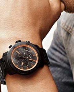 MOVADO Bold Chronograph Black Dial Black Ion-plated Titanium Men's Watch 3600190