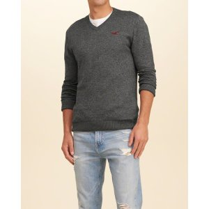Guys V-Neck Icon Sweater | Guys Clearance | HollisterCo.com