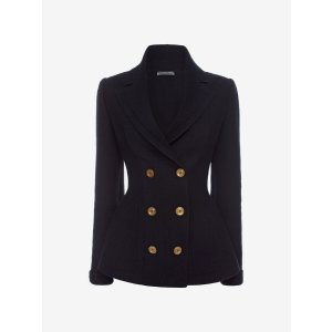 Knitted Double Breasted Jacket | Alexander McQueen