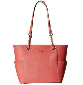 $66.75 Calvin Klein Saffiano Top Zip Tote Bag
