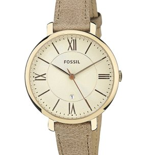 Lowest price! $45.50(reg $115 ) Extra 30% Off Fossil Jacqueline Three-Hand Leather Watch