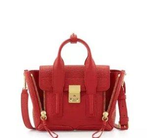 $695 + $100 Gift Card 3.1 Phillip Lim Pashli Mini Leather Satchel Bag, Red @ Neiman Marcus