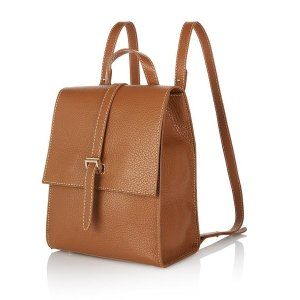 Leather backpack tan - azzurra | meli melo Double 12 sale