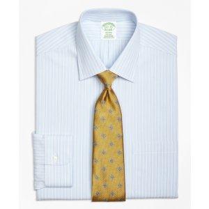 Non-Iron Milano Fit Micro Music Stripe Dress Shirt - Brooks Brothers