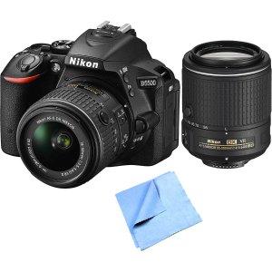 Nikon D5500 DX-format Digital SLR + 18-55mm& 55-200mm VR II Kit (Manufacturer refurbished)