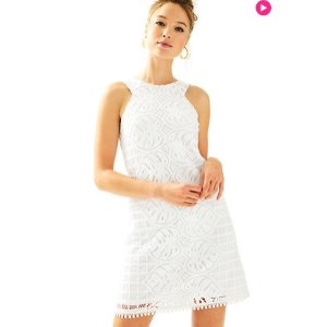 Mango Lace Shift Dress