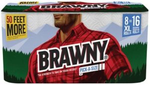 Brawny® Pick-A-Size XL Paper Roll Towels, 2-ply, White, 8 Rolls/Pack