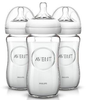 Philips AVENT Natural Glass Bottle 8 Ounce Pack of 3