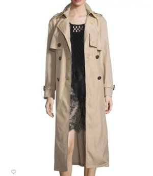 Burberry Prorsum Lightweight Contrast-Trim Trenchcoat, Camel @ Neiman Marcus