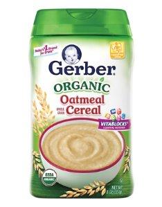 $11.98 Prime Member Only! Gerber Organic Single-Grain Oatmeal Baby Cereal, 8 oz (Pack of 6)