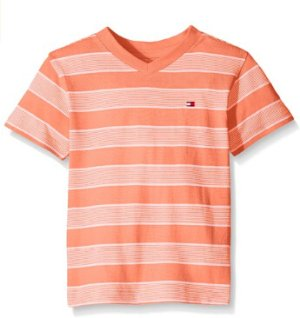 From $9.98 Tommy Hilfiger Boys' Striped V-Neck Tee