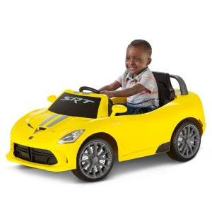 6V Dodge Viper Ride-On, Yellow - Walmart.com