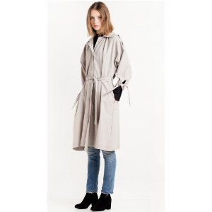 SLEEVE TIE TRENCH COAT BY NEW REVIVAL