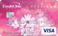 Receive 1% cash back on eligible purchasesCredit One Bank® Platinum Credit Card with Rewards
