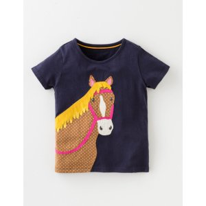 Animal Applique T-shirt 30061 Tops & T-shirts at Boden