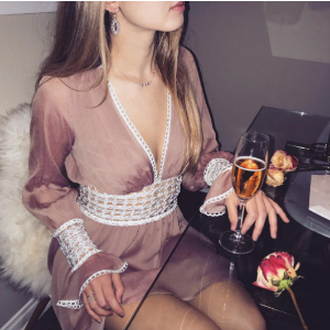 For Love & Lemons Celine Mini Dress | Dolls Kill