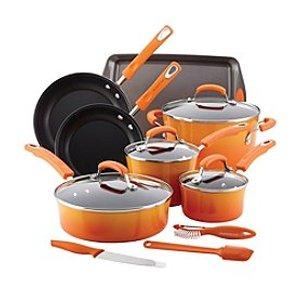 Rachael Ray® 14-pc. Hard Enamel Nonstick Cookware Set