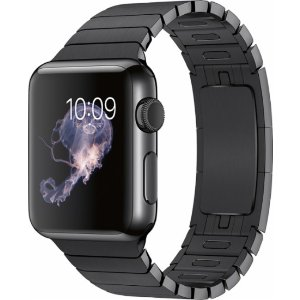 Apple Watch (first-generation) 38mm Stainless Steel Case - Space Black Link Bracelet Band Black MJ3F2LL/A