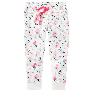Baby Girl Floral French Terry Joggers | OshKosh.com