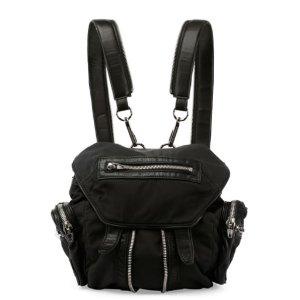 Alexander Wang Mini Marti Nylon Backpack, Black/Nickel