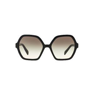 Prada PR 06SS 56 Grey & Black Sunglasses | Sunglass Hut USA
