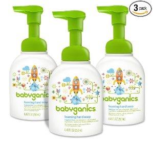 Babyganics Foaming Hand Soap, Fragrance Free, 8.45oz Pump Bottle (Pack of 3)