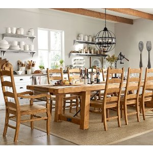 Benchwright Extending Dining Table, Vintage Spruce | Pottery Barn