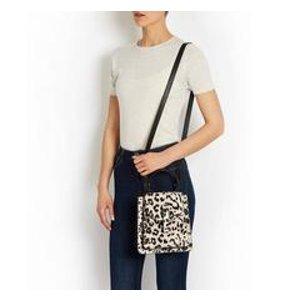 floriana mini handbag white leopard print