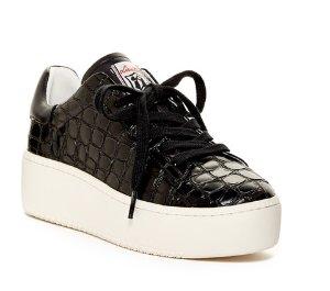 Ash Cult Embossed Leather Platform Sneakers