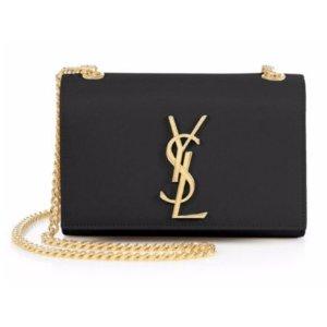 Saint Laurent Saint Laurent Monogram Small Leather Chain Bag