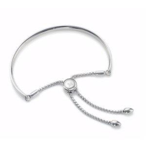 Fiji Chain Friendship Bracelet - Silver | Monica Vinader