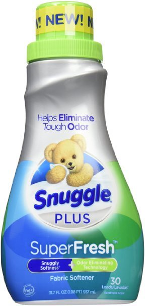 Snuggle Plus Super Fresh Fabric Softener Liquid with Odor Eliminating Technology, 31.7 Fluid Ounce