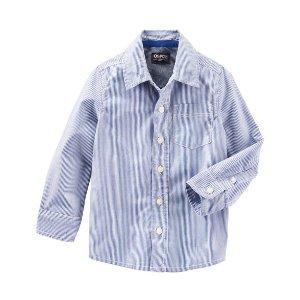 Kid Boy Striped Button-Front Shirt | OshKosh.com