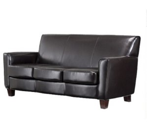 $349.98(Reg. $499.99) Threshold Nolan Bonded Leather Living Room Sofa Espresso