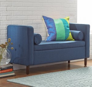 Rimo Upholstered Storage Bench by Mercury Row
