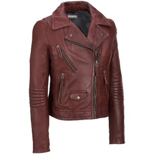 Black Rivet Leather Motorcycle Jacket