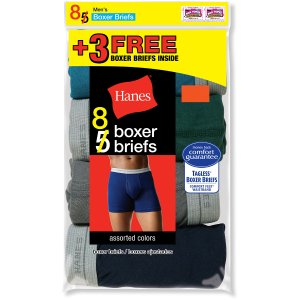 $12.88 Hanes 8 Boxer Brief for $12.88 @Walmart
