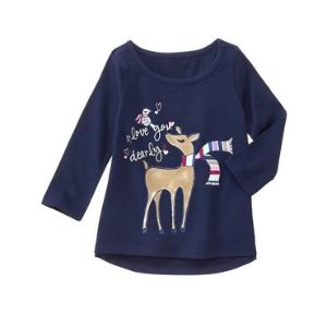 Toddler Girls Gym Navy Dearly Tee by Gymboree