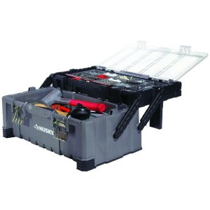 Husky 22 in. Cantilever Plastic Tool Box with Metal Latches
