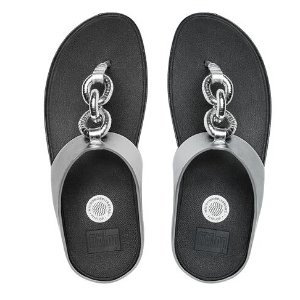FitFlop SuperChain Ultra-Cushioned Flip Flops Silver | Official FitFlop Store