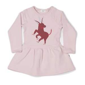 Terry Dress-Light Pink/Unicorn