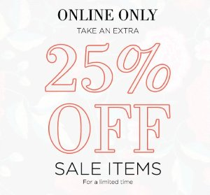Extra 25% OffSale Items @ South Moon Under