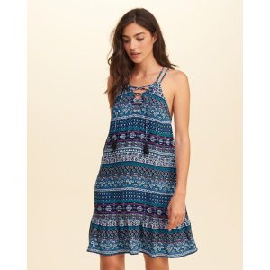 Girls Lace-Up Swing Dress | Girls Clearance | HollisterCo.com