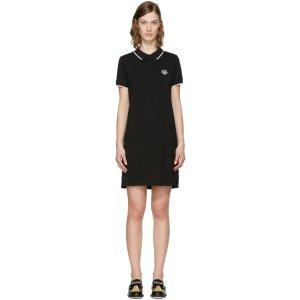 Kenzo Black Tiger Polo Dress