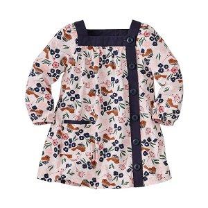 Baby Folk Bird Button Front Dress | Baby Sale Dress