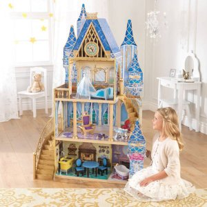 2016 Black Friday! $88 Disney Princess Cinderella Royal Dreams Dollhouse with Furniture by KidKraft