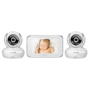 2016 Black Friday! $129.99 Motorola MBP38S-2 Digital Video Baby Monitor with Two Cameras