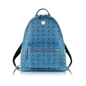 MCM Munich Blue Medium Stark Backpack at FORZIERI